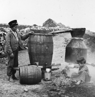 Poitin-making, circa 1900.