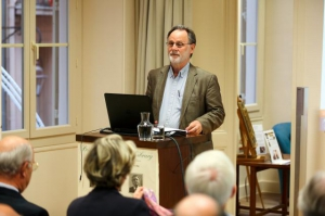 Professor Adrian Frazier during his lecture