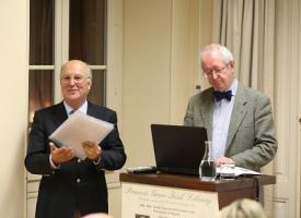 Consul Pierre Joannon introducing Professor Keith Jeffery