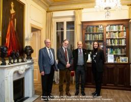 Peter K Murphy (PGIL Trustee), Prof Adrian Frazier, Mark Armstrong and Anne-Marie Boisbouvier (PGIL Trustees)