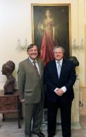 Professor Paul Monod and Mr Marc de Vito from the Consulate of Canada in Monaco