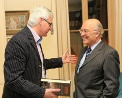 Stephen Walker and Consul Pierre Joannon