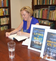 Liz Nugent during the book signing of Lying in Wait
