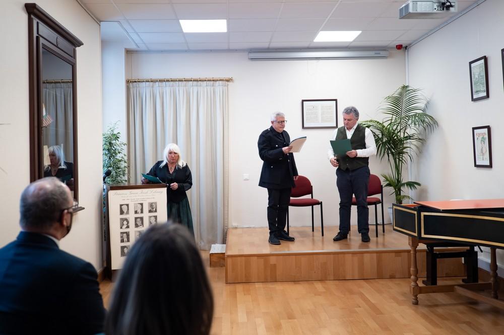 Actors from Monaco Ireland Arts Society - in presence of HSH Prince Albert II - copyright G. Luci Palais Princier
