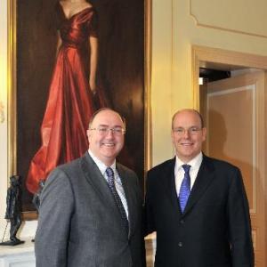 His Serene Highness Prince Albert II of Monaco & His Excellency Paul Kavanagh, Former Ambassador of Ireland to Monaco