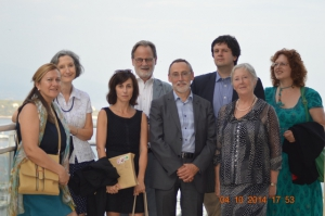 From left to right: Elena, Elizabeth, Fabienne, Adrian, Michel, Mark, Mary and Ann