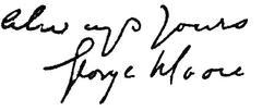 George Moore signature