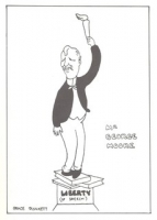 Caricature of George Moore by Grace Plunkett
