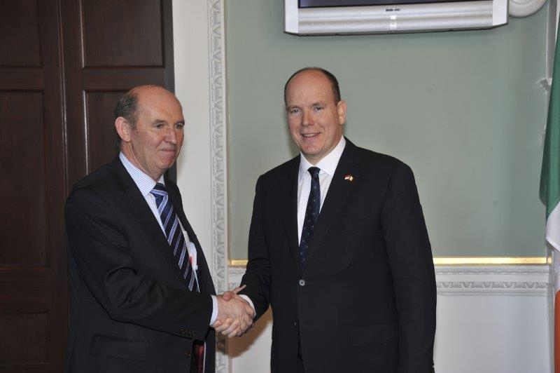 Prince Albert II state visit to Ireland in 2011 with Miss Charlene Wittstock - 11
