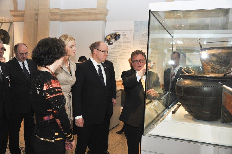 Prince Albert II state visit to Ireland in 2011 with Miss Charlene Wittstock - 8