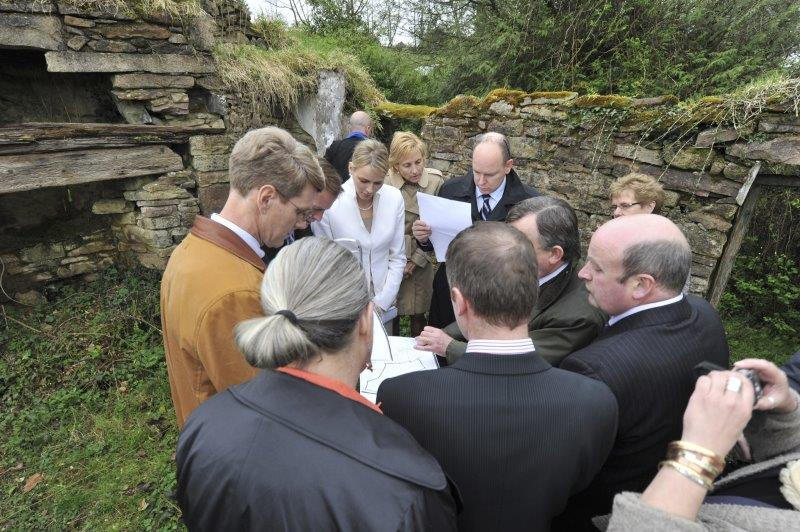 Prince Albert II state visit to Ireland in 2011 with Miss Charlene Wittstock - 1