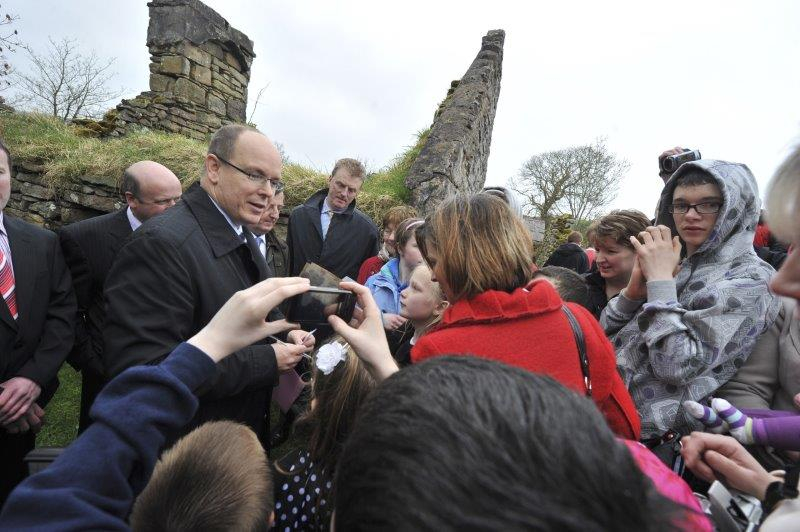 Prince Albert II state visit to Ireland in 2011 with Miss Charlene Wittstock - 9